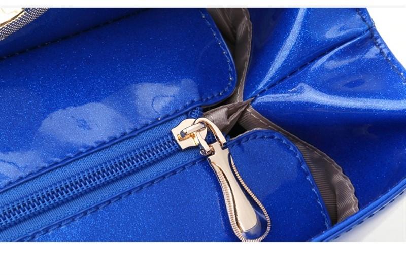 Женская сумка оксфордская ткань, водооталкивающая (голубой с котами)