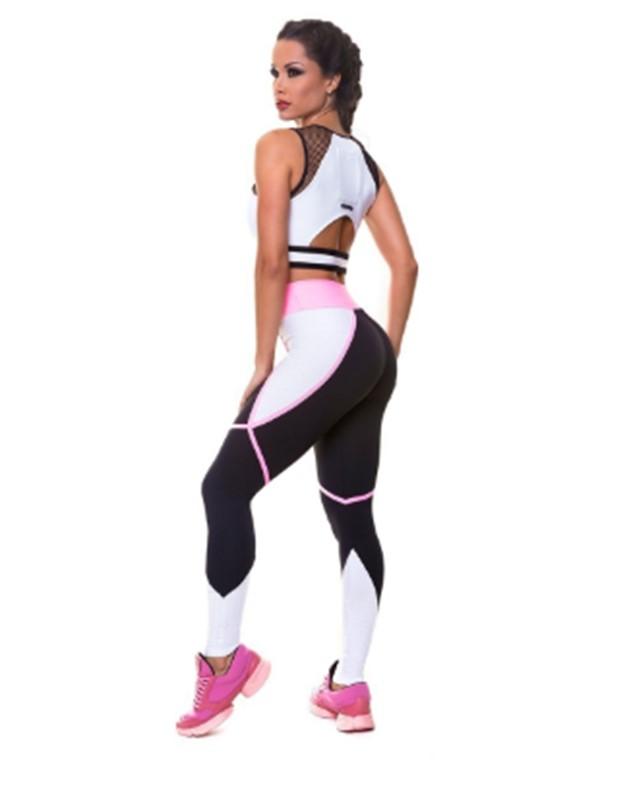 Женский костюм для зала, спорта, йоги, фитнеса, топ и лосины (Performance)