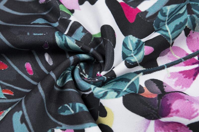 Женский костюм для зала, спорта, йоги, фитнеса, топ и лосины (многоцветная печать букв)