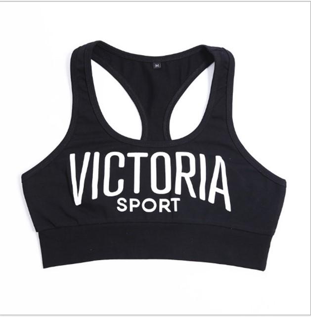 Спортивный женский топ Victoria Sport (черный)